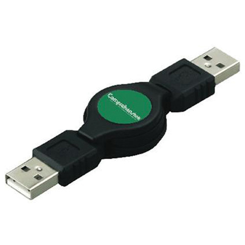 Comprehensive USB2-AM-AM-R USB 2.0 A Male to A Male Retractable Cable (3' / 0.91 m)