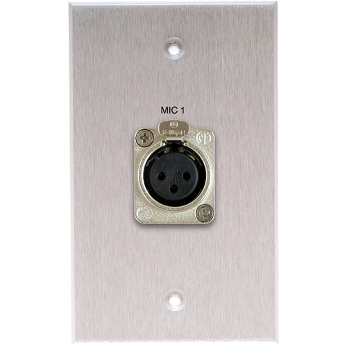 Comprehensive WP-1785-E-PT-AB Single-Gang Wallplate with HDMI Female Connector (Black)