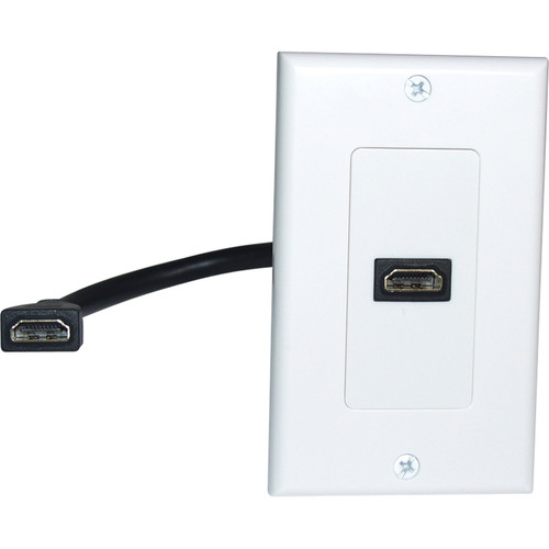 Comprehensive HDMI Pigtail Wall Plate (White)