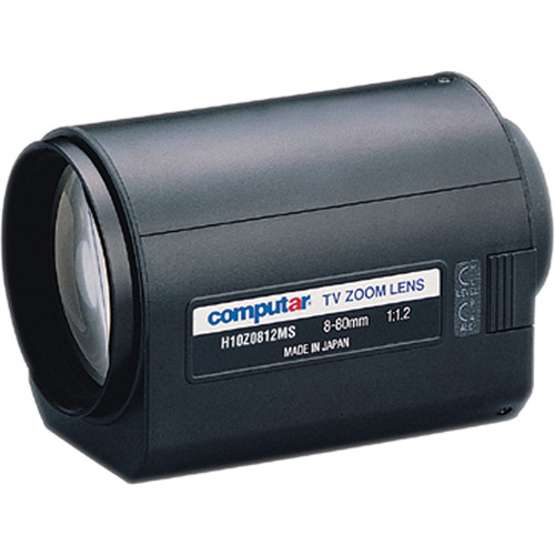 """computar H10Z0812MS 1/2"""" 8 to 80mm f1.2 10x Motorized Zoom Lens (C-Mount)"""