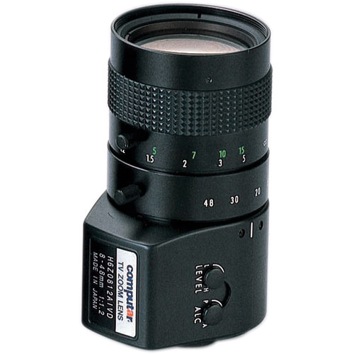 "computar H6Z0812AIVD 1/2"" 8 to 48mm f1.2 6x Manual Zoom Lens (C-Mount)"