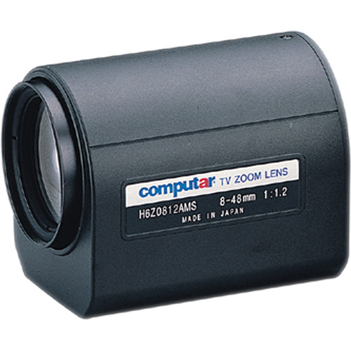"""computar H6Z0812AMS 1/2"""" 8 to 48mm f1.2 6x Motorized Zoom Lens (C-Mount)"""