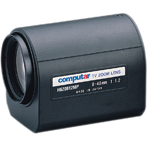 "computar H6Z0812MP 1/2"" f/1.2 6x Motorized Zoom Lens (C-Mount, 8 to 48mm)"