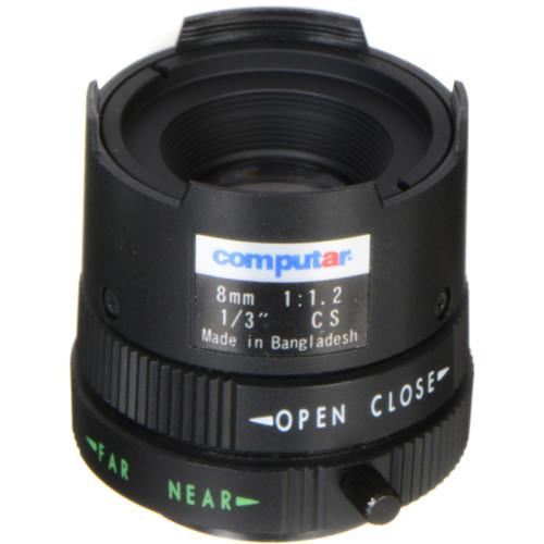"""computar CS Mount 1/3"""" 8mm Monofocal Manual Iris Lens"""