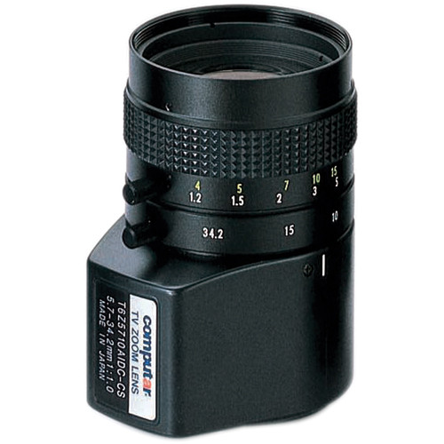 """computar T6Z5710AIDC 1/3"""" 5.7 to 34.2mm f1.0 6x Manual Zoom Lens (CS-Mount)"""