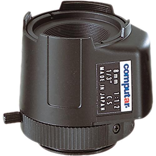 "computar TG0812FCS 1/3"" Fixed Focus DC Auto Iris Lens (8mm)"