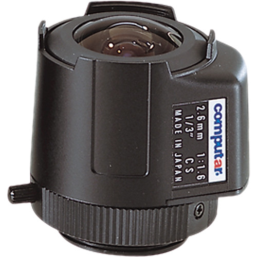 "computar TG2616FCS 1/3"" Fixed Focus DC Auto Iris Lens (2.6mm)"
