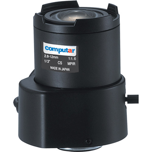 "computar TG4Z2816FCS-MPIR 1/3"" f1.6 DC Auto Iris Lens (CS-Mount, 2.8 to 12mm)"