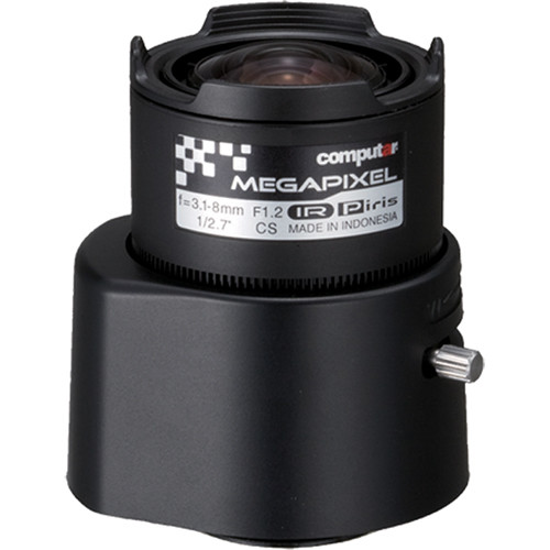 computar AG3Z3112KCSMPIR 3MP CS-Mount Day/Night 3.1-8mm Varifocal Lens with 2.6x Zoom