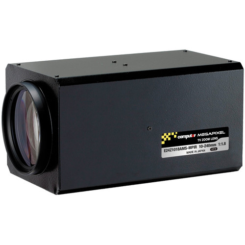 "computar E24Z1018-MPIR Series 1/1.8"" 3MP C-Mount 10 to 240mm 24x Video Auto-Iris Zoom IR Lens with Spot Filter"
