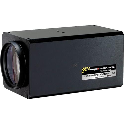 "computar E24Z1018-MP Series 1/1.8"" 3MP C-Mount 10-240mm 24x 3-Moto rDay/Night Zoom Lens"