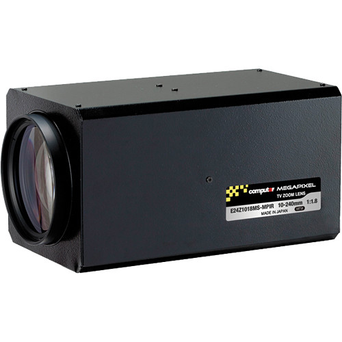 "computar E24Z1018-MPIR Series 1/1.8"" 3MP C-Mount 10 to 240mm 24x 3 Motors Zoom IR Lens with Spot Filter"