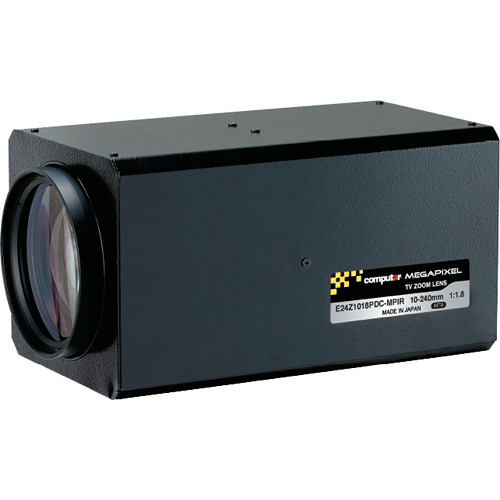 "computar E24Z1018-MPIR Series 1/1.8"" 3MP C-Mount 10 to 240mm 24x DC Auto-Iris Zoom IR Lens with Spot Filter & Preset"