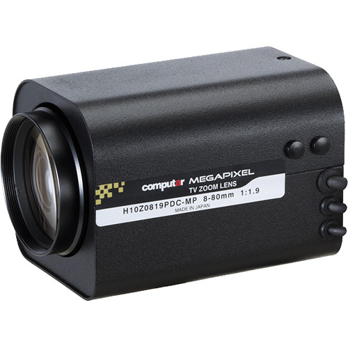 "computar H10Z0819-MP Series 1/2"" 2MP C-Mount 8 to 80mm 10x DC Auto-Iris Zoom Lens with Spot Filter with Preset"