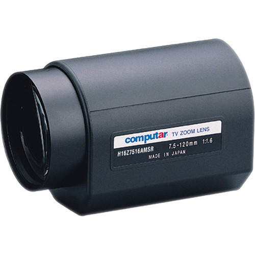"computar H16Z7516 Series 1/2"" C-Mount 7.5 to 120mm 16x Video Auto-Iris Day/Night Motorized Zoom Lens with Spot Filter"