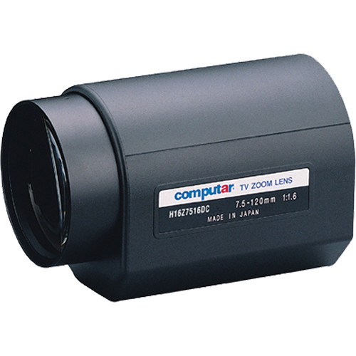 "computar H16Z7516PDC C-Mount 7.5 to 120mm f1.6 16x 1/2"" Motorized Zoom Lens"