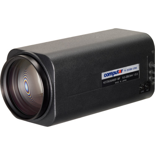 "computar 1/2"" 1.3MP C-Mount 9.5 to 256.5mm 27x Video Auto-Iris Motorized Zoom Lens with Preset"