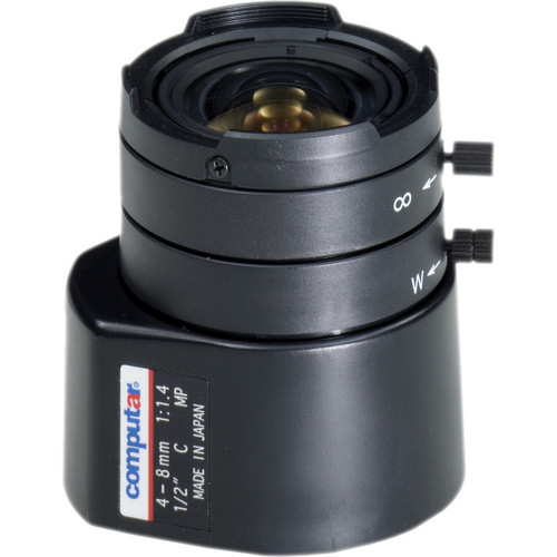 "computar HG2Z0414FC-MP 1/2"" 4 to 8mm F1.4 DC Auto Iris MP Lens (C-Mount)"