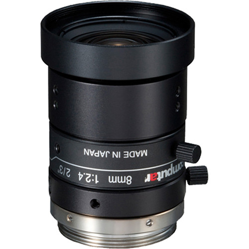 computar C-Mount 8mm f/2.4 5MP Ultra Low Distortion Lens
