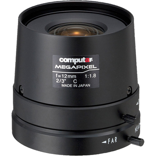 computar C-Mount 12mm f/1.8 5MP Manual Iris Lens