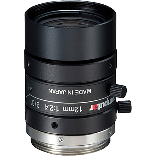 computar C-Mount 12mm f/2.4 5MP Ultra Low Distortion Lens