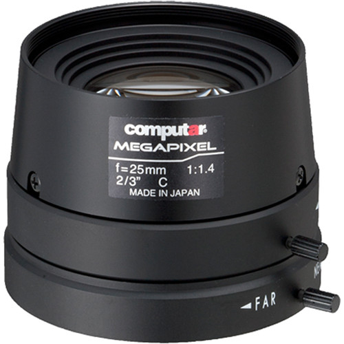 computar C-Mount 25mm f/1.8 5MP Manual Iris Lens