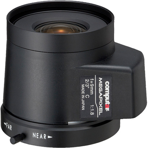 computar C-Mount 9mm f/1.8 5MP Auto Iris Lens with DC Drive