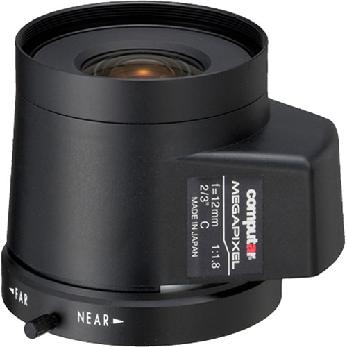 computar C-Mount 12mm f/1.8 5MP Auto Iris Lens with DC Drive