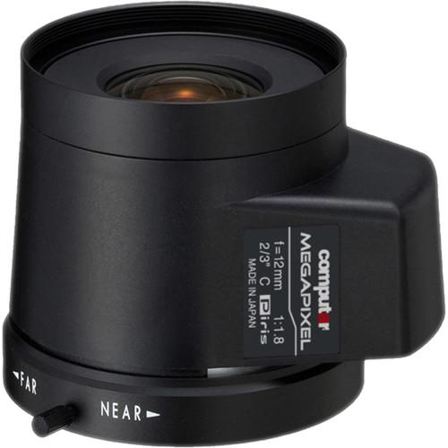 computar C-Mount 12mm f/1.8 5MP Stepping Motor Iris Lens