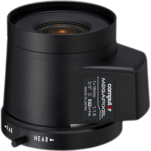 computar C-Mount 16mm f/1.6 5MP Stepping Motor Iris Lens