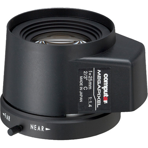 computar C-Mount 25mm f/1.4 5MP Auto Iris Lens with DC Drive