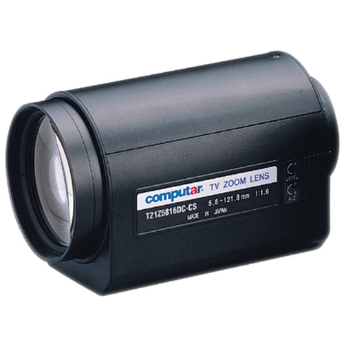 """computar 5.8-121mm 1/3"""" CS-Mount Motorized Zoom Lens with Spot Filter"""