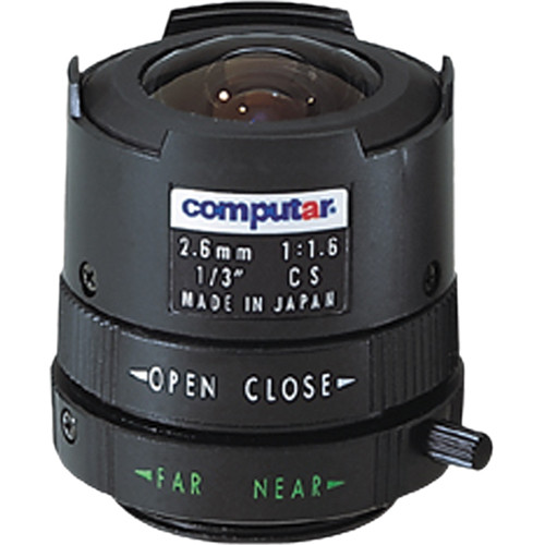 "computar T2616FICS 1/3"" Monofocal, Manual Iris Lens (2.6mm)"