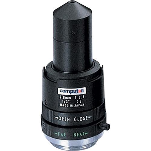 computar CS-Mount 2.6mm f/2.5 Manual Iris Fixed Lens