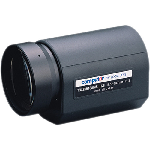 """computar T34Z5518AMS 1/3"""" Video Auto-Iris Lens with Spot (5.5 to 187mm)"""