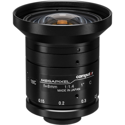 "computar 1"" 8mm f/1.4 2MP Lens (C-Mount)"