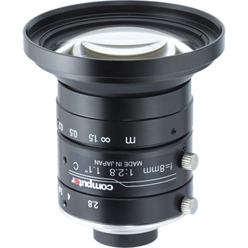 "computar V0828-MPY2 8mm F2.8 Ultra Low Distortion Lens for 1.1"" 12MP Sensor Cameras (C-Mount)"