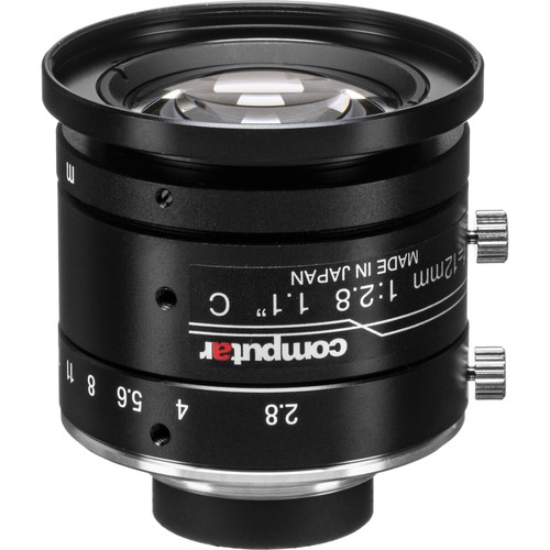 "computar 1.1"" 12mm f/2.8 12MP Ultra Low Distortion Lens (C-Mount)"