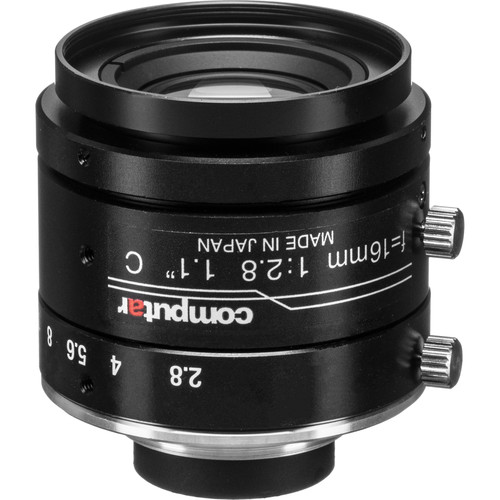 """computar 1.1"""" 16mm f/2.8 12MP Ultra Low Distortion Lens (C-Mount)"""