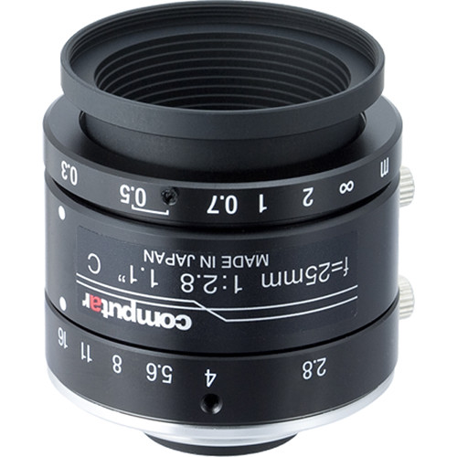 "computar 1.1"" 25mm f/2.8 12MP Ultra Low Distortion Lens (C-Mount)"