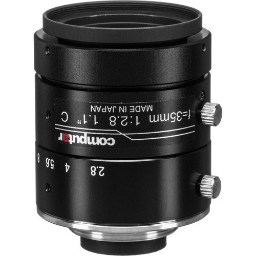"""computar 1.1"""" 35mm f/2.8 12MP Ultra Low Distortion Lens (C-Mount)"""