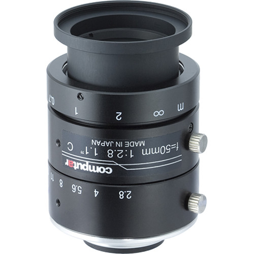 "computar 1.1"" 50mm f/2.8 12MP Ultra Low Distortion Lens (C-Mount)"