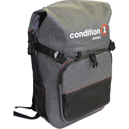 Condition 1 Rebel 30L Dry Bag Backpack with Front Zippered Pocket (Gray)
