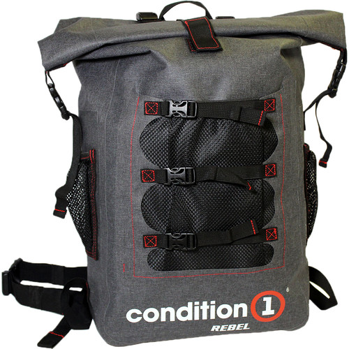 Condition 1 Rebel 30L Dry Bag Backpack with Front Net Pouch (Gray)