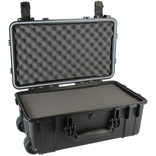"""Condition 1 22"""" Rolling Travel Hard Case with Dividers and Lid Organizer #300 (Black)"""