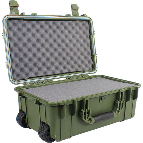 """Condition 1 22"""" Rolling Travel Hard Case with Dividers and Lid Organizer #300 (Green)"""
