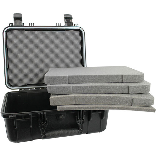 """Condition 1 18"""" Medium Hard Case with Padded Dividers and Lid Organizer (Black)"""