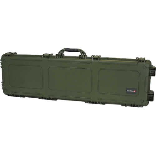 "Condition 1 53"" Shotgun and Rifle Carrying Waterproof Gun Case (Green)"