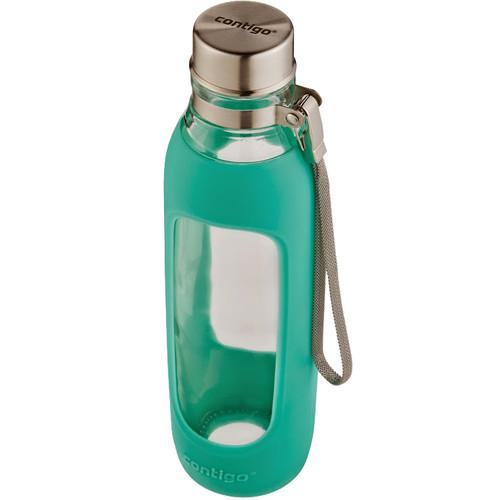 Contigo Purity Glass Water Bottle (20 fl oz, Grayed Jade)
