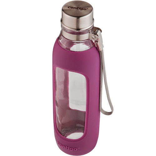 Contigo 20oz Purity Glass Water Bottle (Radiant Orchid)